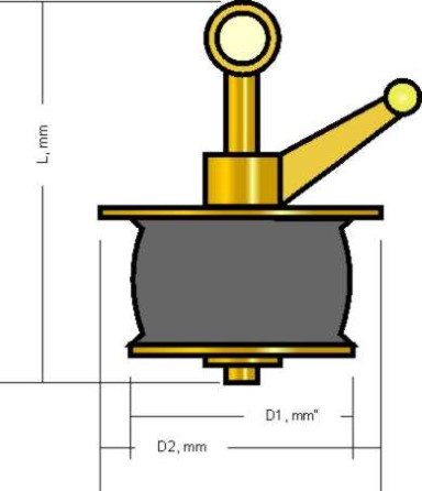 Scupper plug  148 - 190mm with brass plates