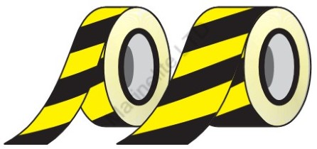Hazard warning reflective tape 150mm