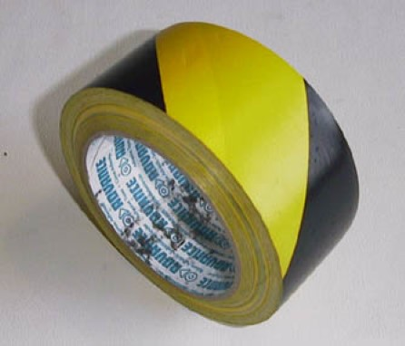 Safety tape black/yellow