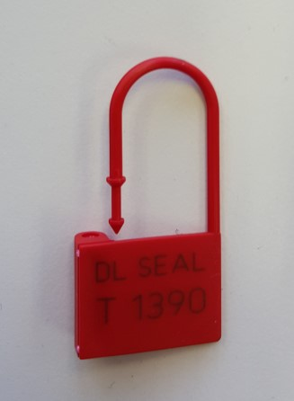 Security seals Padlock series - set a 100 Red