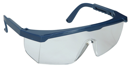 Safety glasses clear with side shield