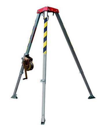 Alu Tripod with winch 20 mtr