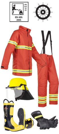 Firemans outfit complete MED approved nomex type