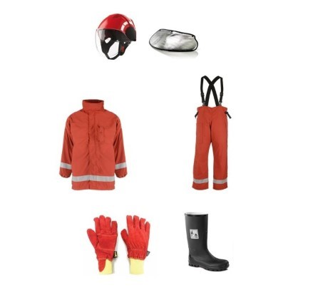 FB Firemans outfit MED approved nomex type complete