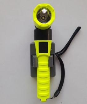 Rechargeable Flashlight IS angled 90 degrees - Atex zone 1