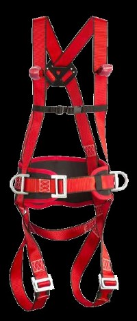 Standard body harness with 2 hip and 1 back ring