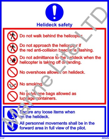 Photolumi. self adh. poster (50x40 cm)  - Helideck Safety