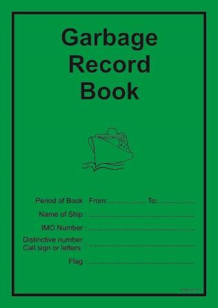 Garbage record book - Marpol Annex V - MEPC.277(70)