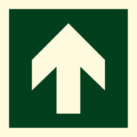 Direction sign (PV) - Arrow straight