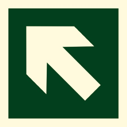 Direction sign (PV) - Arrow crossed