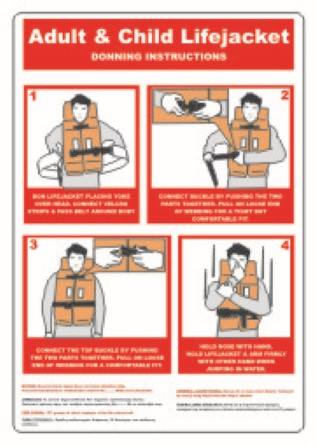 Lifejacket Donning instr. 2-sides Child&Adult/Infant (20x30)