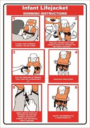Lifejacket Donning Instr 2 Sides Child Amp Adult Infant