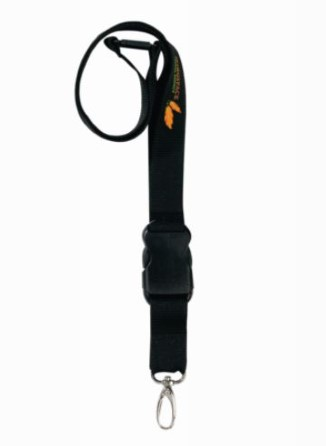 Safety cord black with weaklink and shackle