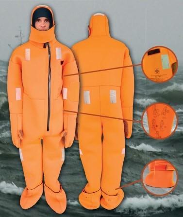 Aquata immersion suit V20 MED approved 145-175cm M