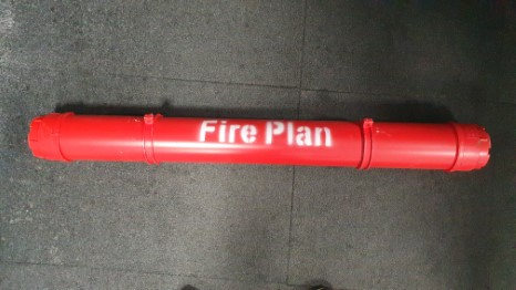 Fire- safetyplan tube with brackets