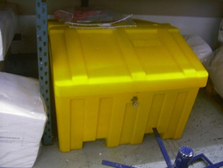 Empty Oil spill control box