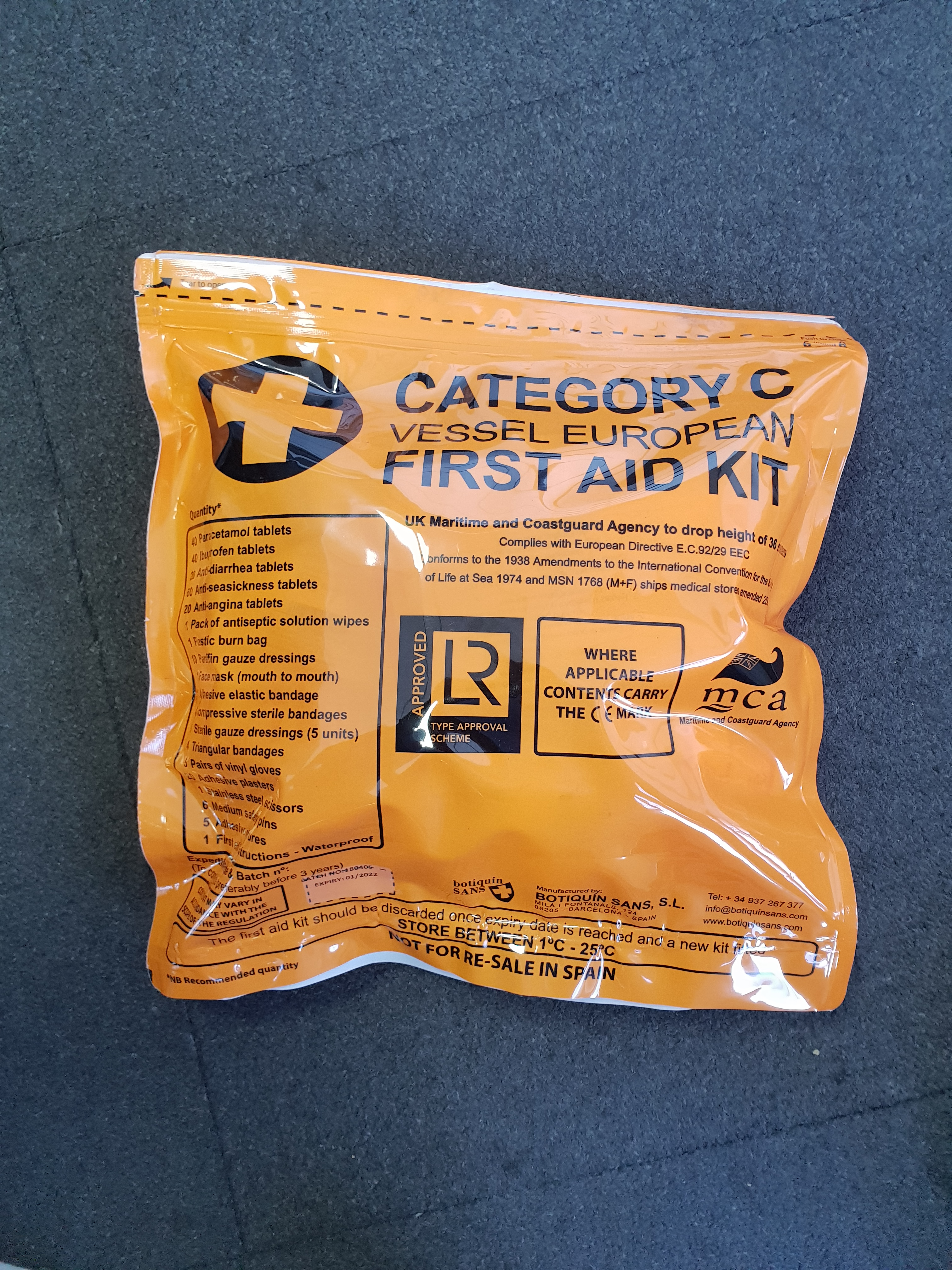 Lifeboat Medical Kit Cat Quot C Quot Products Traconed