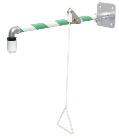 Emergency shower horizontal  with wallplate