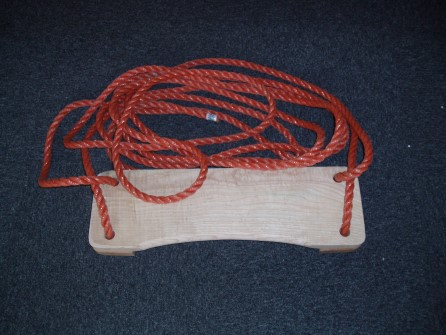 Boatswain chair with ropes