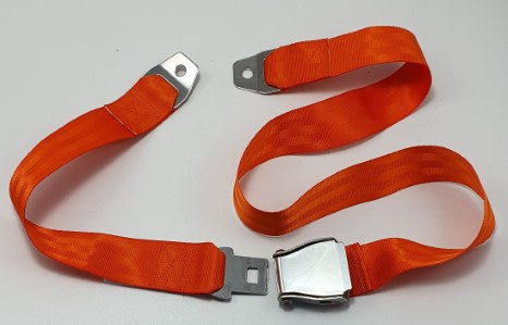 Lifeboat static seatbelt 2-point. yellow
