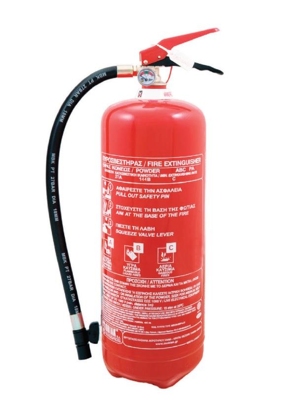 Extinguisher Powder 9 kg MED constant pressure