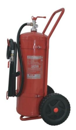 Extinguisher Powder 50 kg wheeled Constant Pres. MED appr