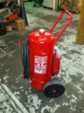 Extinguisher Foam 50ltr wheeled cart oper MED appr