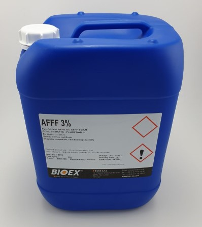 Fluorosynthetic AFFF 3% foam 20 ltr for hydrocarbon fires