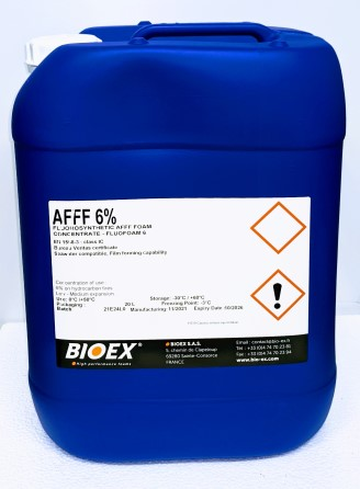 Fluorosynthetic AFFF 6% foam 20 ltr for hydrocarbon fires