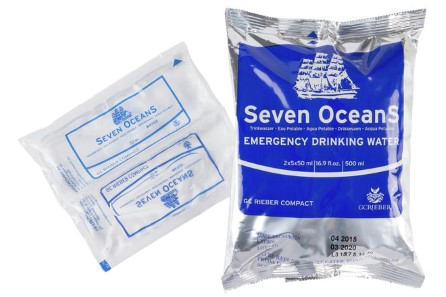 Drinking water Seven Oceans 5x100ml in bag